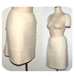 SOLD Roberto Cavali Boiled Wool Skirt Ivory Italy